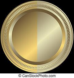 zlatý, stříbřitý, (vector), deska