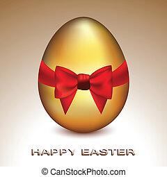 zlatý, velikonoční obalit v rozšlehaných vejcích