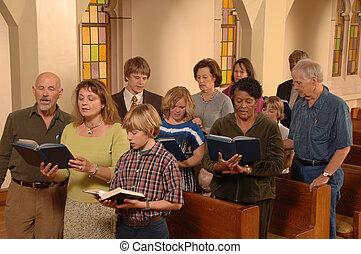 Zpívající zpěvy v kostele