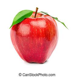 Zralé červené jablko