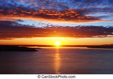 Zvukový západ slunce
